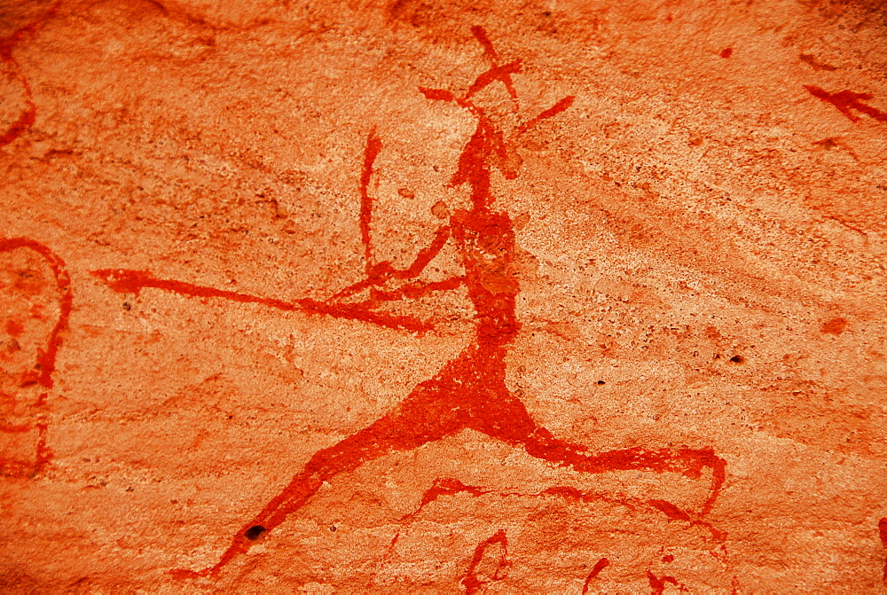 Rock painting, Akakus mountains, Libya