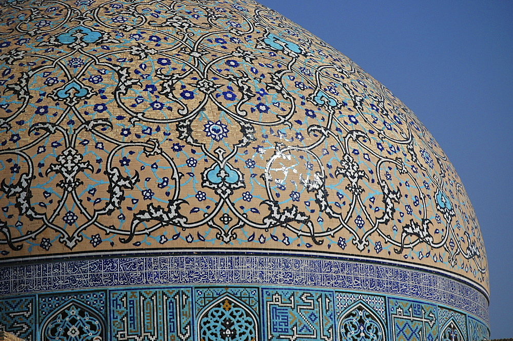 Dome of Sheikh Lotf Allah Mosque at Meidan-e Imam (Imam Square), Isfahan, Iran
