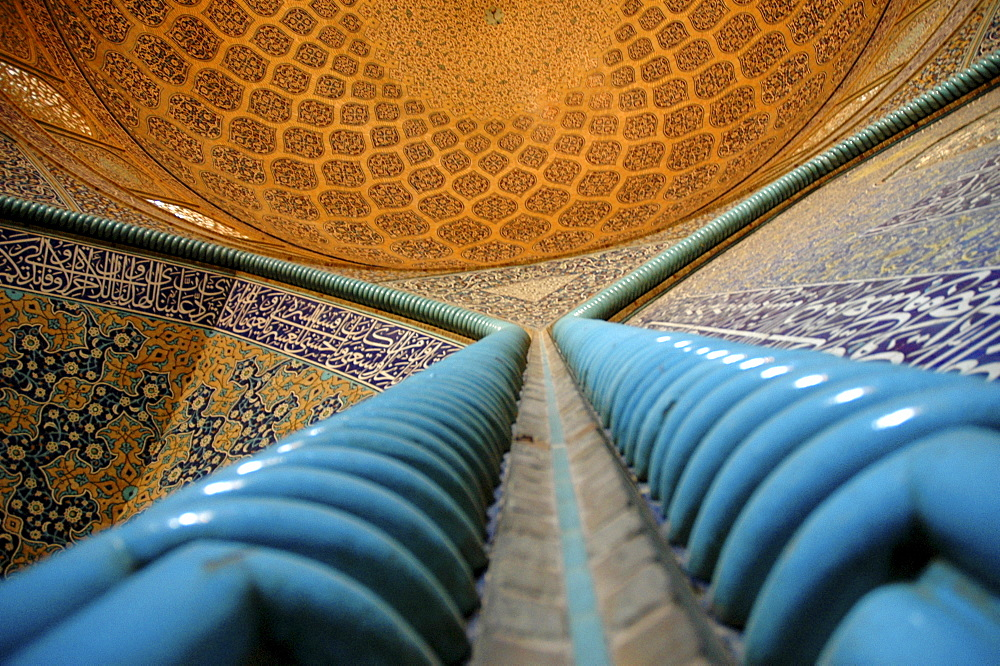 Interior of Sheikh Lotf Allah Mosque at Meidan-e Imam (Imam Square), Isfahan, Iran