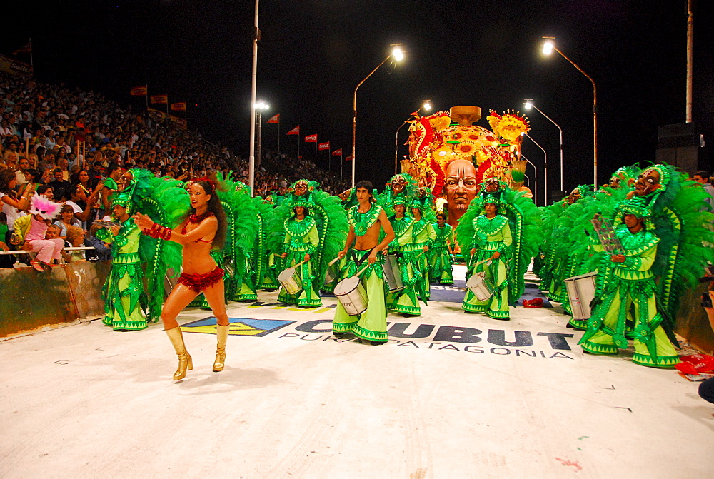 Dancers at Gualeguaychu carnival, Entre Rios province, Argentina