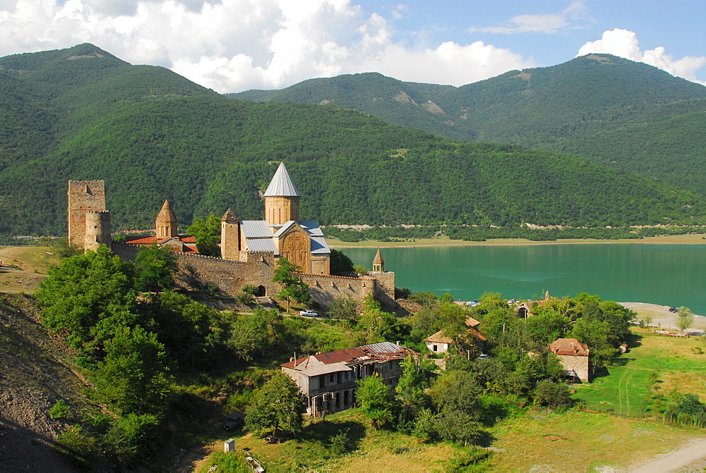 Ananuri Fortress at Shinwali Lake, Ananuri, Georgia, Asia