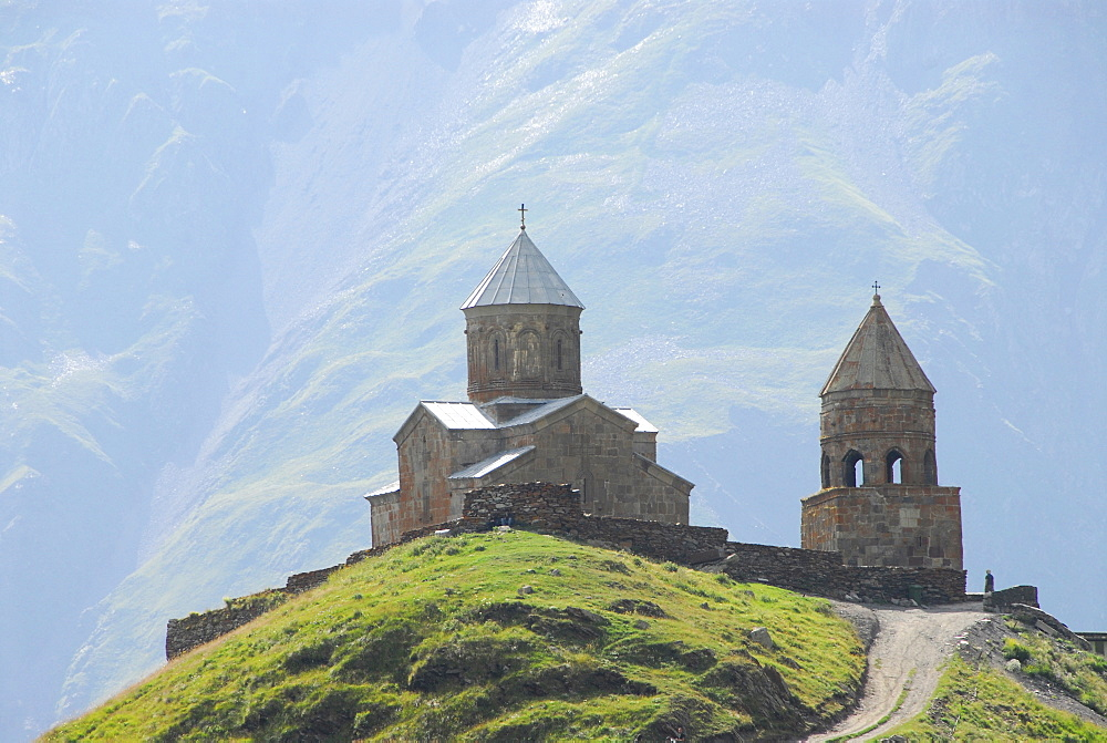 Gergeti Church, near Kazbegi, Georgia, Asia