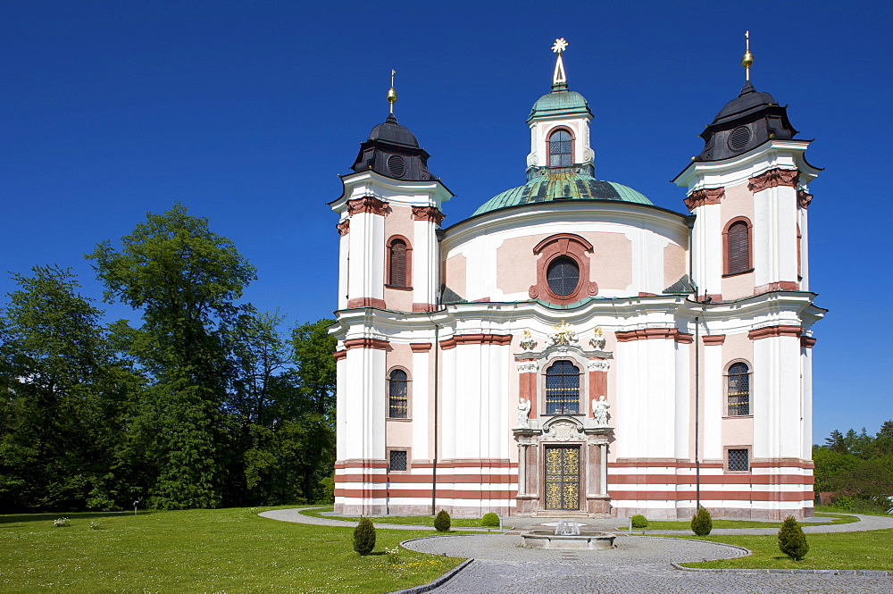 Baroque Paura Church, parish and pilgramige church dedicated to the Holy Trinity, Stadl-Paura, Upper Austria, Austria, Europe