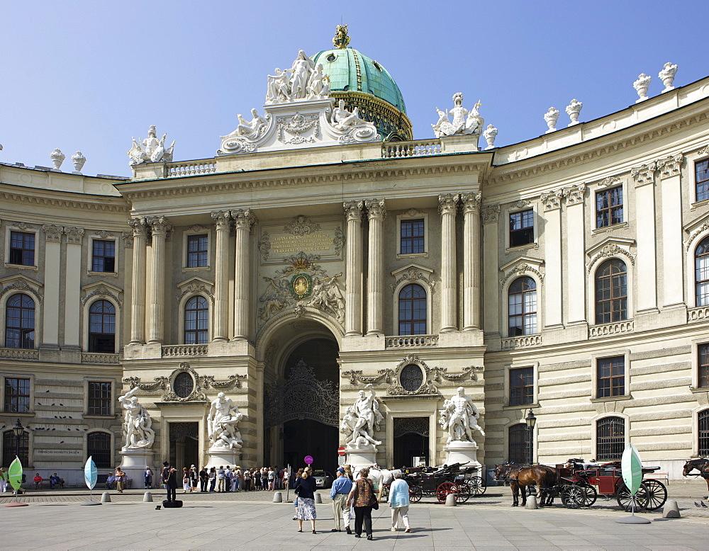 Michaelertrakt at Michaelerplatz Square, Hofburg Imperial Palace, Vienna, Austria, Europe