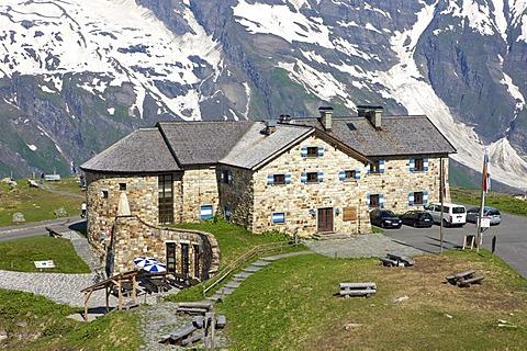 Stone-bricked building in the Upper Nassfeld area, Grossglockner High Alpine Mountain Road, Hohe Tauern National Park, Salzburg, Austria, Europe