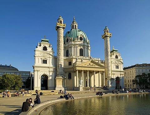 Karlskirche Church, Vienna, Austria, Europe