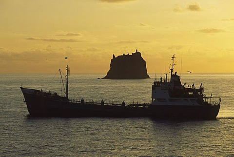 Tanker with drinking water, Stromboli island