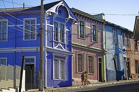 Historical architecture in Valparaiso, Chile