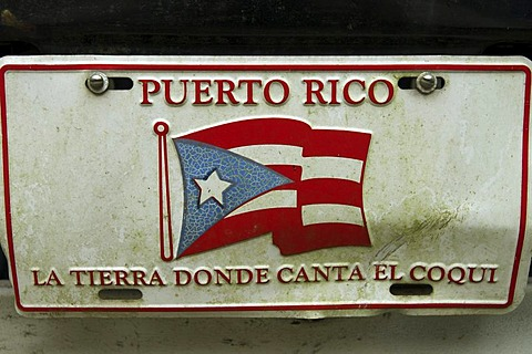Licence plate of Puerto Rico - 832-299223