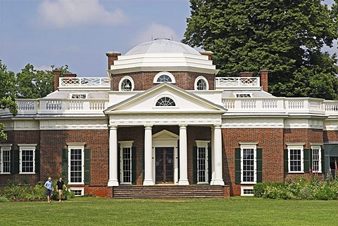 Monticello, Residence of President Thomas Jefferson, Charlotteville, Virginia, USA