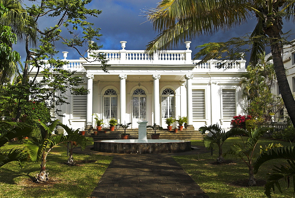 Colonial architecture in the capital St. Denis, La Reunion Island, France, Africa