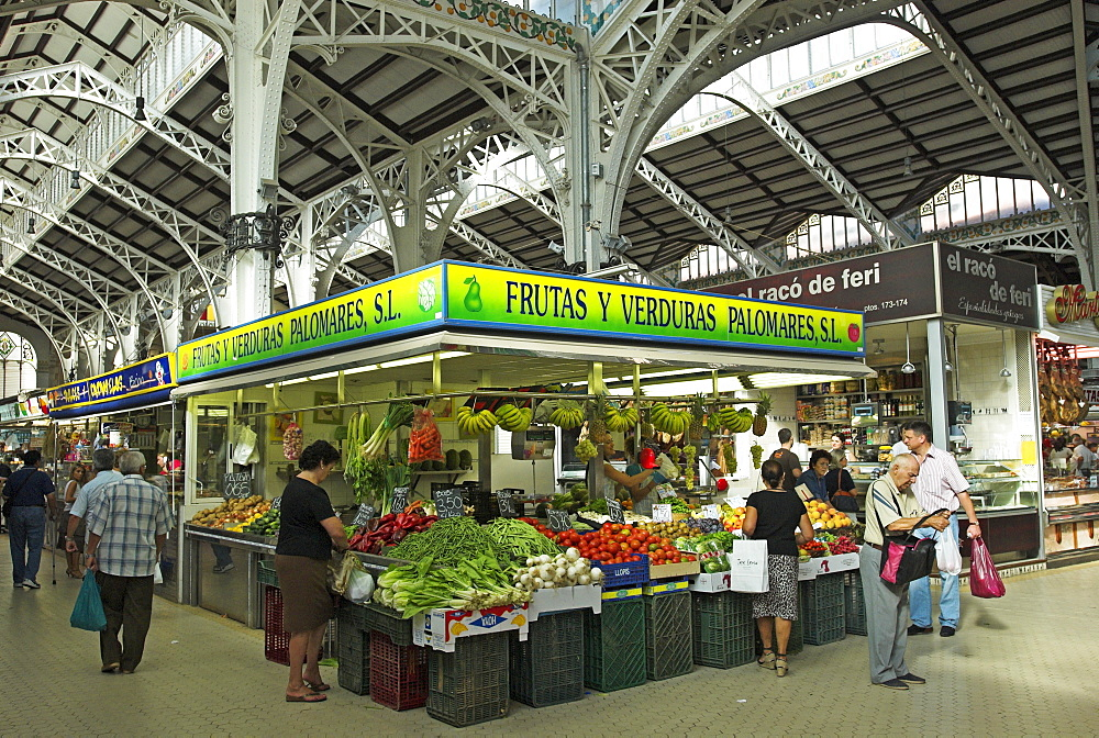 Central market in the city of Valencia, Spain, Europe