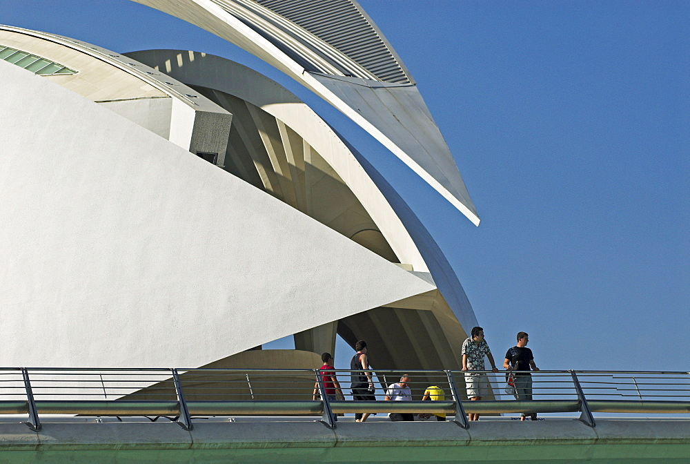 Opera house Palau de les Arts Reina Sofia, City of Arts and Sciences, City of Valencia, Spain, Europe