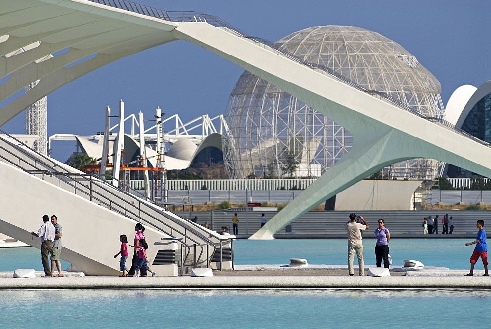 City of Arts and Sciences of architect Santiago Calatrava, City of Valencia, Spain, Europe