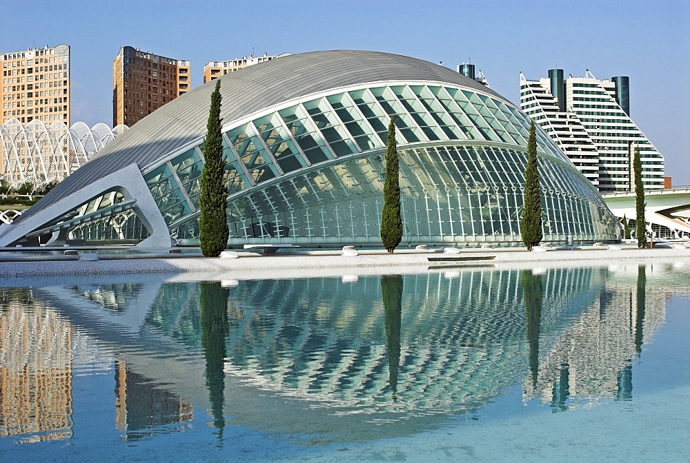 IMAX movie theater Hemisferic, City of Arts and Sciences, City of Valencia, Spain, Europe