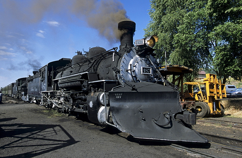 Cumbres and Toltec Scenic Railroad, connecting Colorado and New Mexico, USA, America