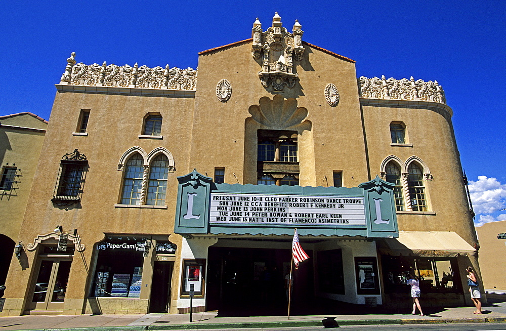 Former movie theater in Santa Fe, New Mexico, USA, America
