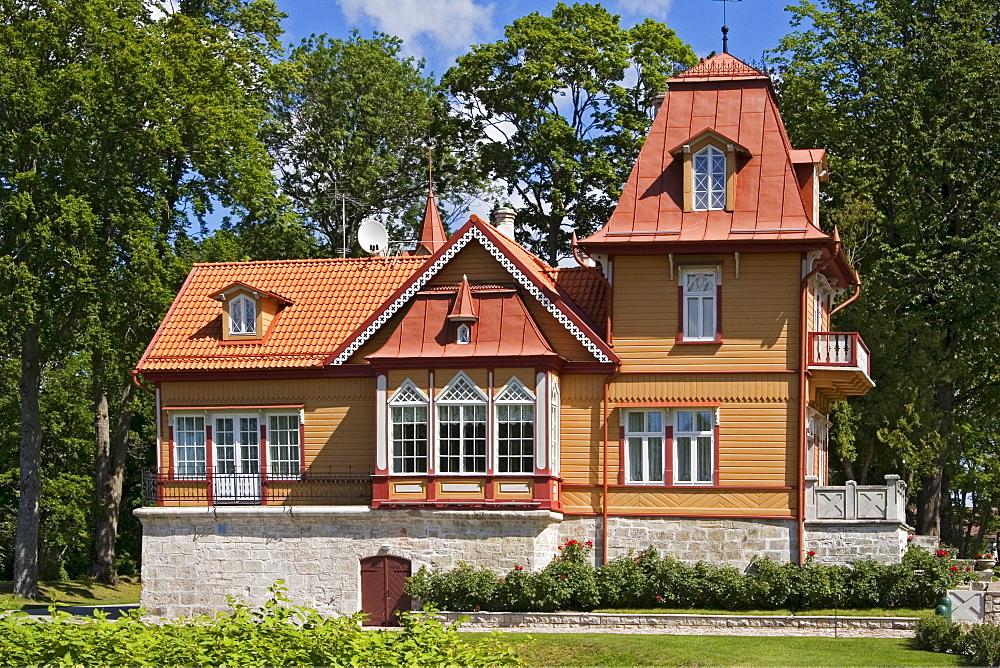 Mansion in the town park, Kuressaare, Saaremaa Island, Estonia, Europe - 832-299982