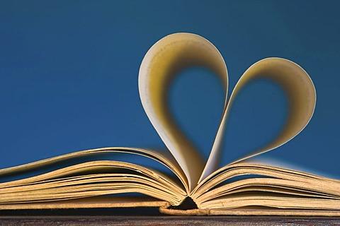 Dear novel - book with heart