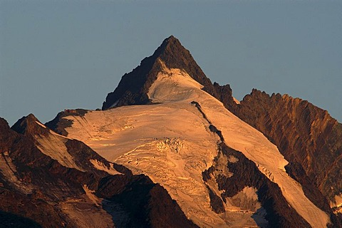 Grossglockner at sunrise, national park Hohe Tauern, Austria