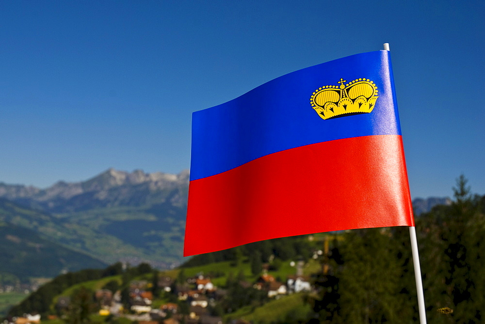 Liechtenstein Flag, Liechtenstein, Europe