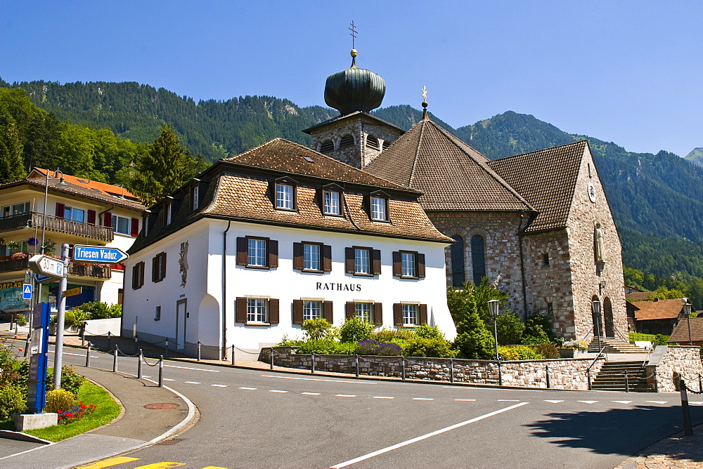 Town hall,  Triesenberg, Liechtenstein, Europe