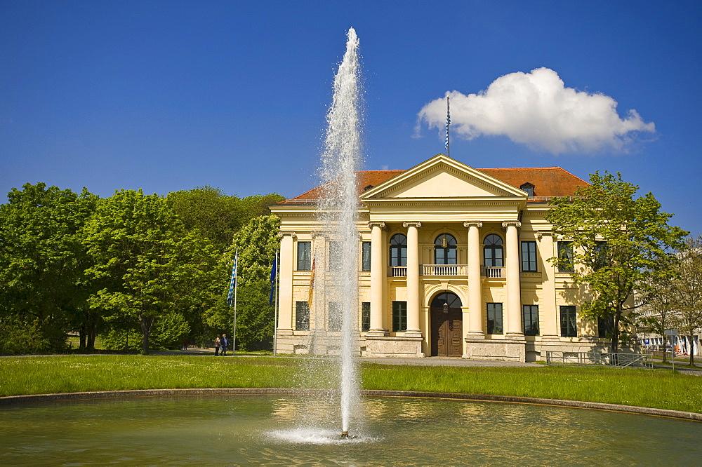Prinz Karl Palais with fountain, Munich, Upper Bavaria, Germany, Europe, PublicGround