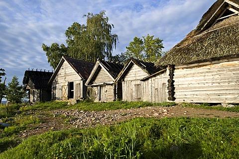Fishing village, Altja, Lahemaa National Park, Estonia, Baltic States, Northeast Europe