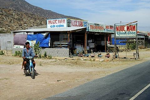 Shop for fish products and fish sauce Nouc Mam near Nha Trang Vietnam