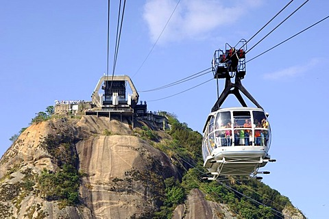 Upper station Cable car to Sugar Loaf Mountain Rio de Janeiro Brazil