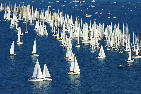 Sailing boats on Lac Leman Switzerland
