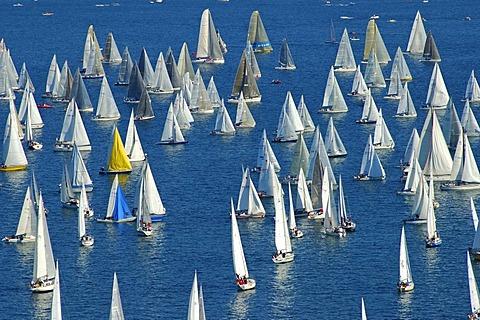 Sailing boats on Lac Leman Switzerland