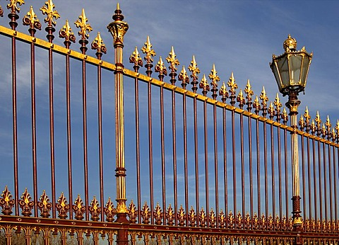 Imperial fence with candelabra, Hofburg, Vienna, Austria