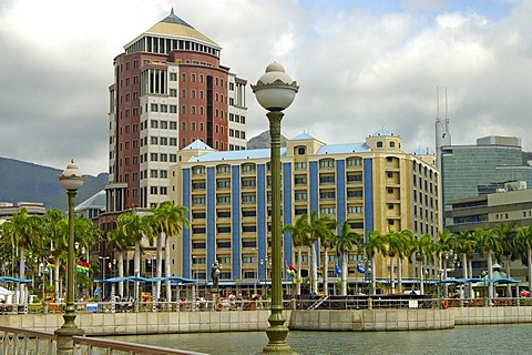 Headquarters of the State Bank in the city centre of the capital Port Louis, Mauritius