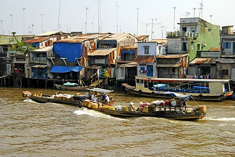 Living at the riverside, MyTho, Mekong Delta, Vietnam