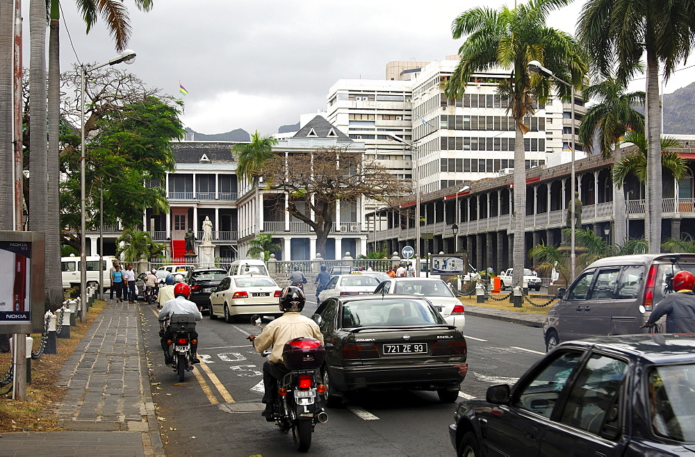 City centre, financial district, view at Government House, Port Louis, Mauritius