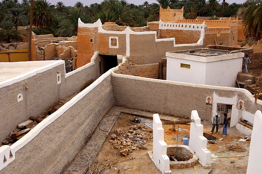 Renovated quarter in the oasis of Ghadames, UNESCO world heritage, Libya