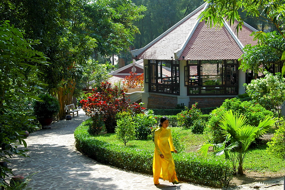 Hotel and restaurant area at the International Tourism and Recreational Complex Tuan Chau Vietnam
