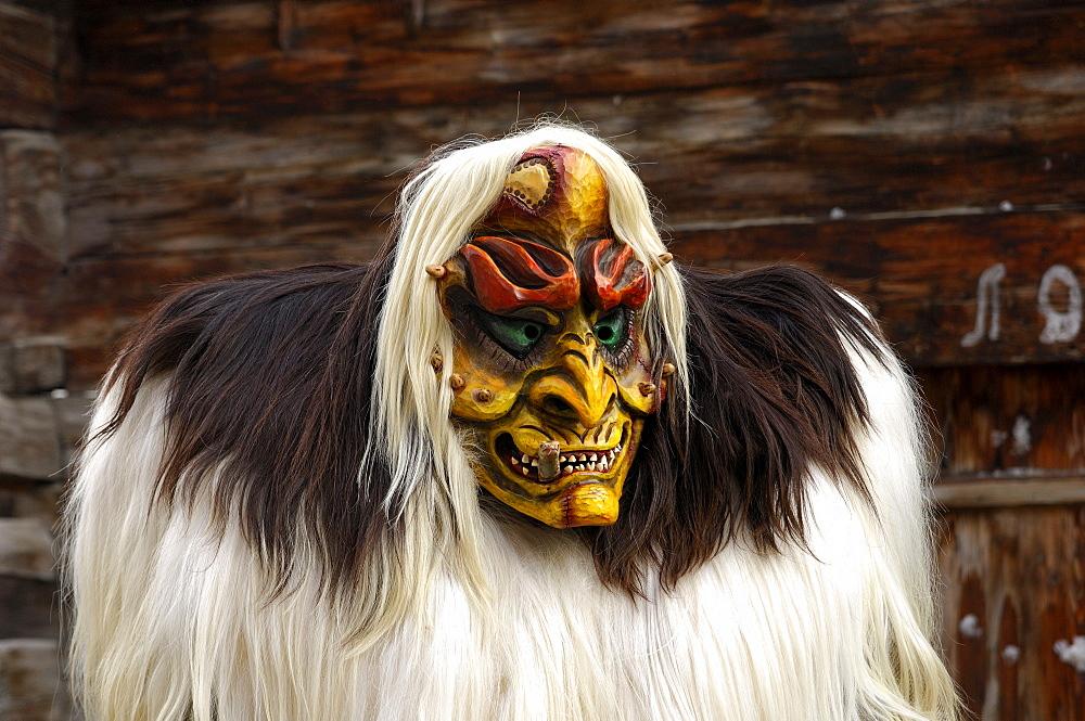 Tschaeggaetae, Carnival masks, Wiler, Loetschental, Valais, Switzerland - 832-301877