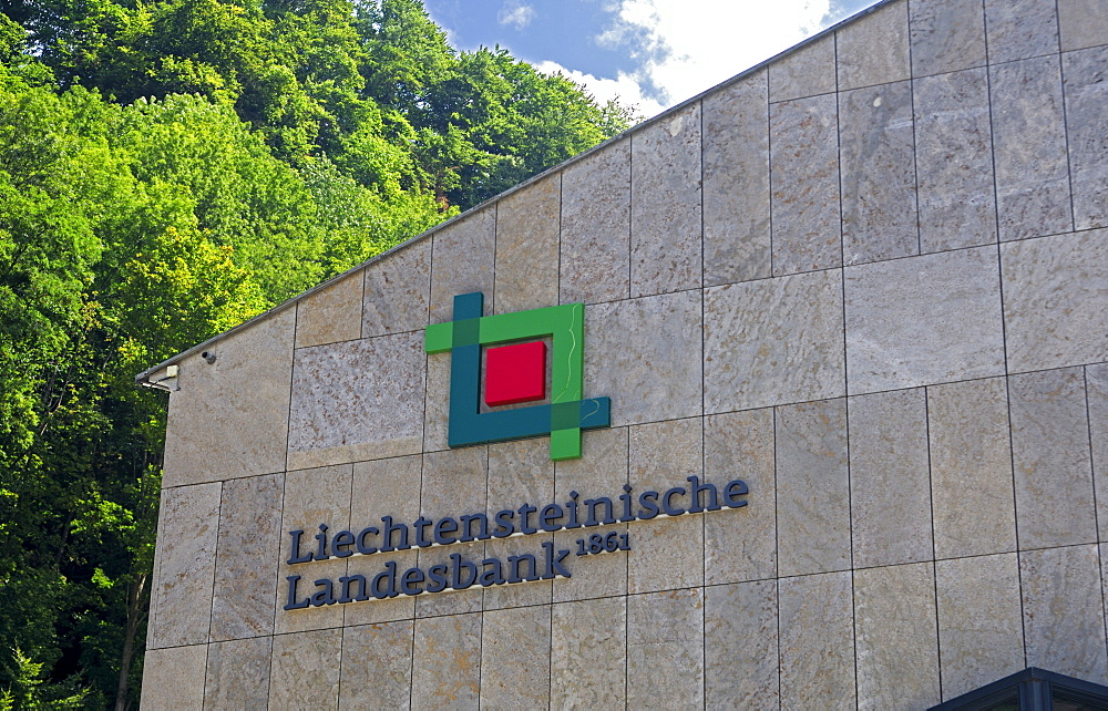 Bank building of Liechtensteinische Landesbank, Vaduz, Principality of Liechtenstein