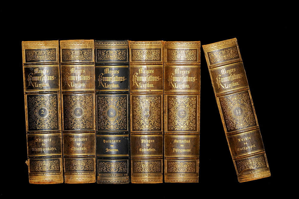 Old leather bound encyclopaedia