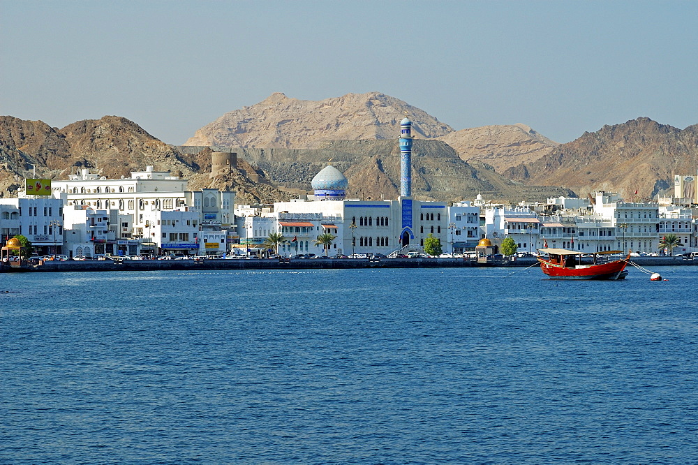 View of the Muttrah quarter of Muscat, Oman, Middle East