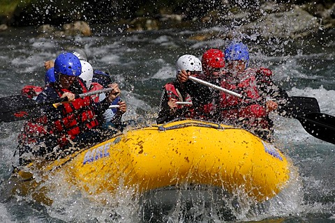 Rafting, Rubber boat