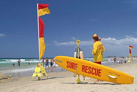 Lifeguards, Surfers Paradise beach, Queensland, Australia - 832-302439