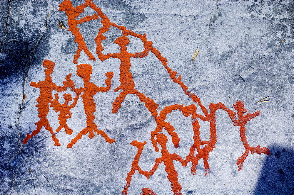Rock painting, Alta, Finnmark, Norway