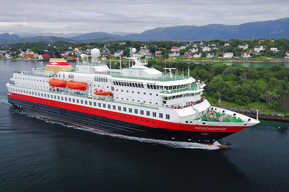 Ferry of the Hurtigruten, Bronnoy, Norway, Scandinavia