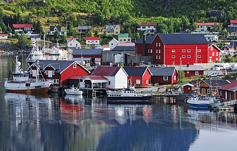 Fishing village Reine, Moskenes, Lofoten, Norway, Scandinavia