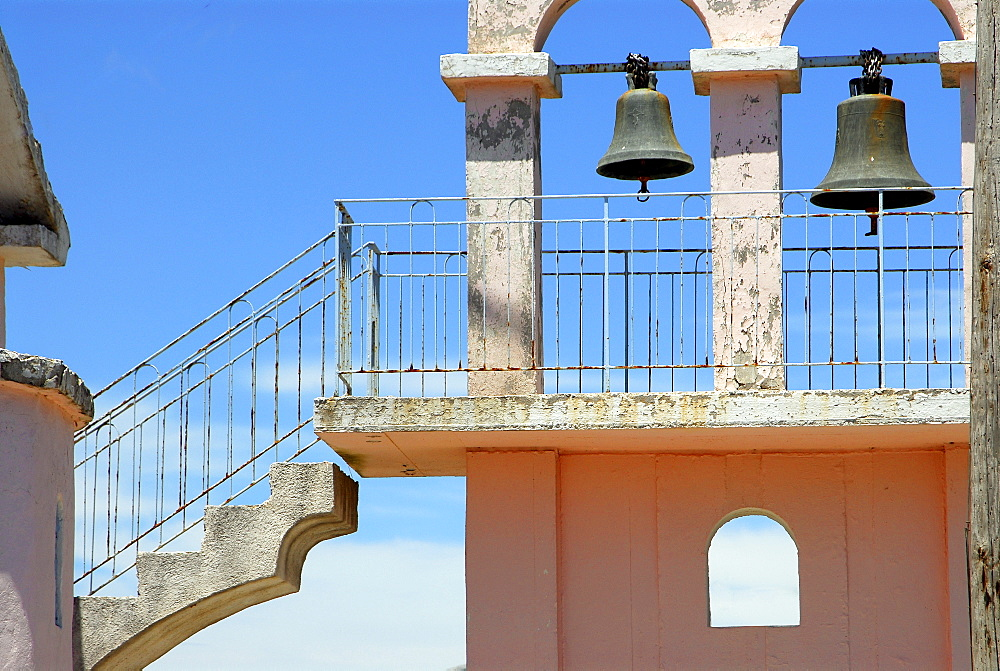 Belfry with stairs, Kefalonia, Ionian Islands, Greece