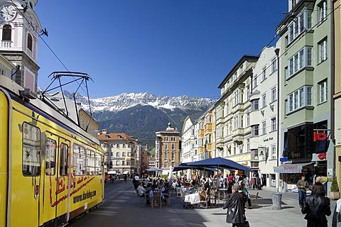 Maria Theresien Strasse, Innsbruck, Tyrol, Austria