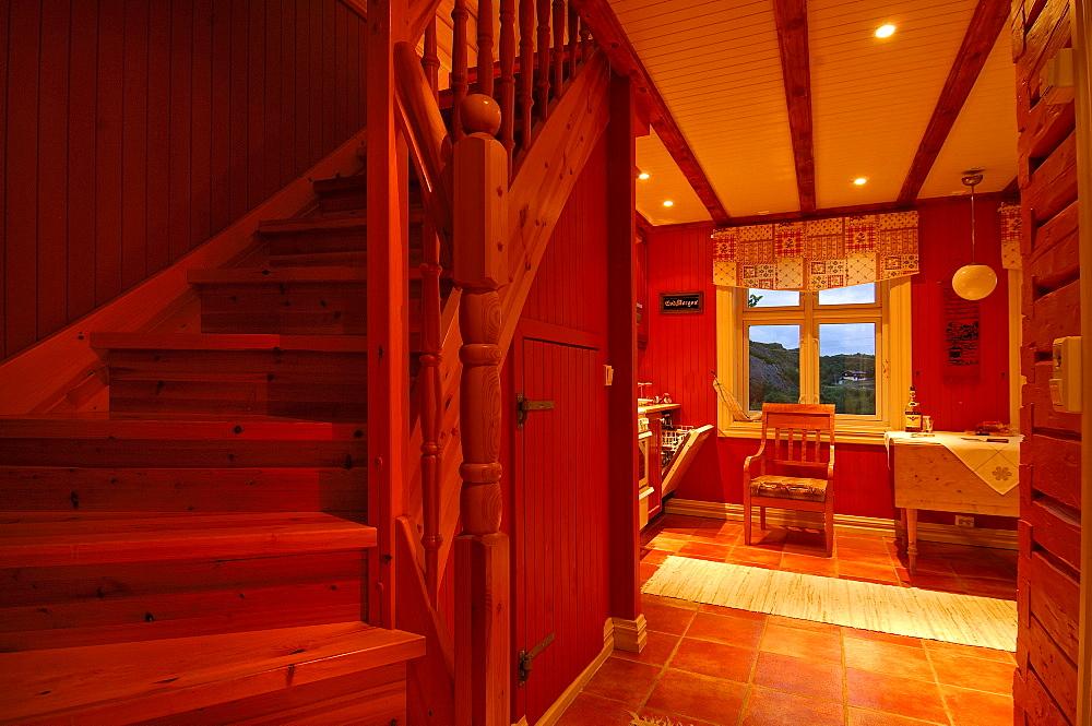 House interior, Lofoten Archipelago, Norway, Scandinavia, Europe